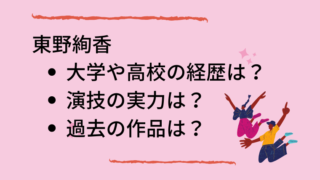 東野絢香のブログタイトルカード