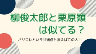 柳俊太郎と栗原類は似てる?タイトルカード