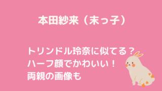 本田紗来ブログタイトルカード
