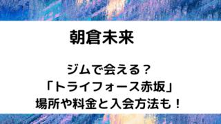 朝倉未来ジムタイトルカード
