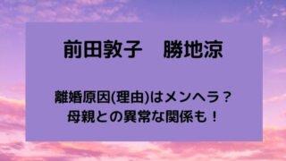 前田敦子と勝地涼の離婚原因(理由)はメンヘラ?