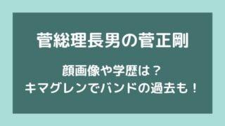 菅総理長男(正剛)の顔画像や学歴は?