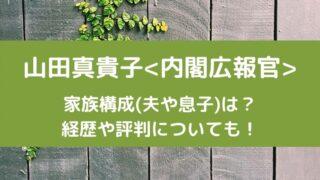山田真貴子内閣広報官の家族構成(夫や息子)は?