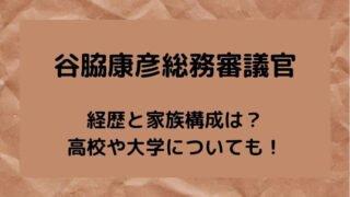谷脇康彦総務審議官の経歴と家族構成は?