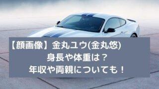 【顔画像】金丸ユウ(悠)の身長や体重は?年収や両親についても!