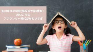 丸川珠代の学歴(高校や大学)情報!若いころのアナウンサー時代がかわいすぎ