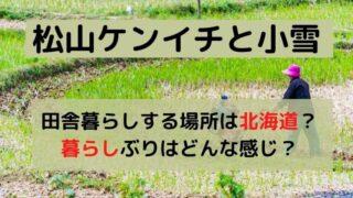 松山ケンイチと小雪が田舎暮らしする場所は北海道?暮らしぶりはどんな感じ?