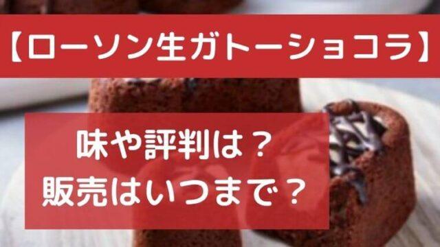 生ガトーショコラの味や評判は?販売はいつまでかも調査!【ローソン新商品】
